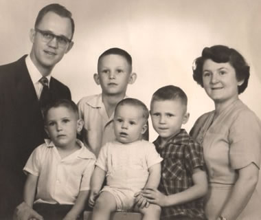 The Van Rooy family in the 1950's