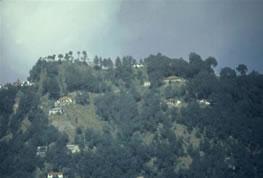 Landour India, homes on the hillside