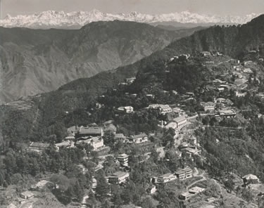 India - Mussoorie view from library