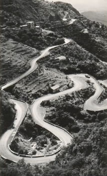 Mussoorie motor road from Dehra Doon India