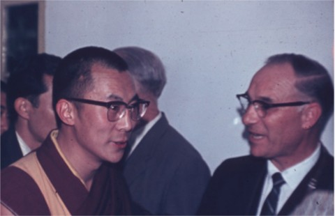 The Dalai Lama with our Principal, Mr. Burgoyne.